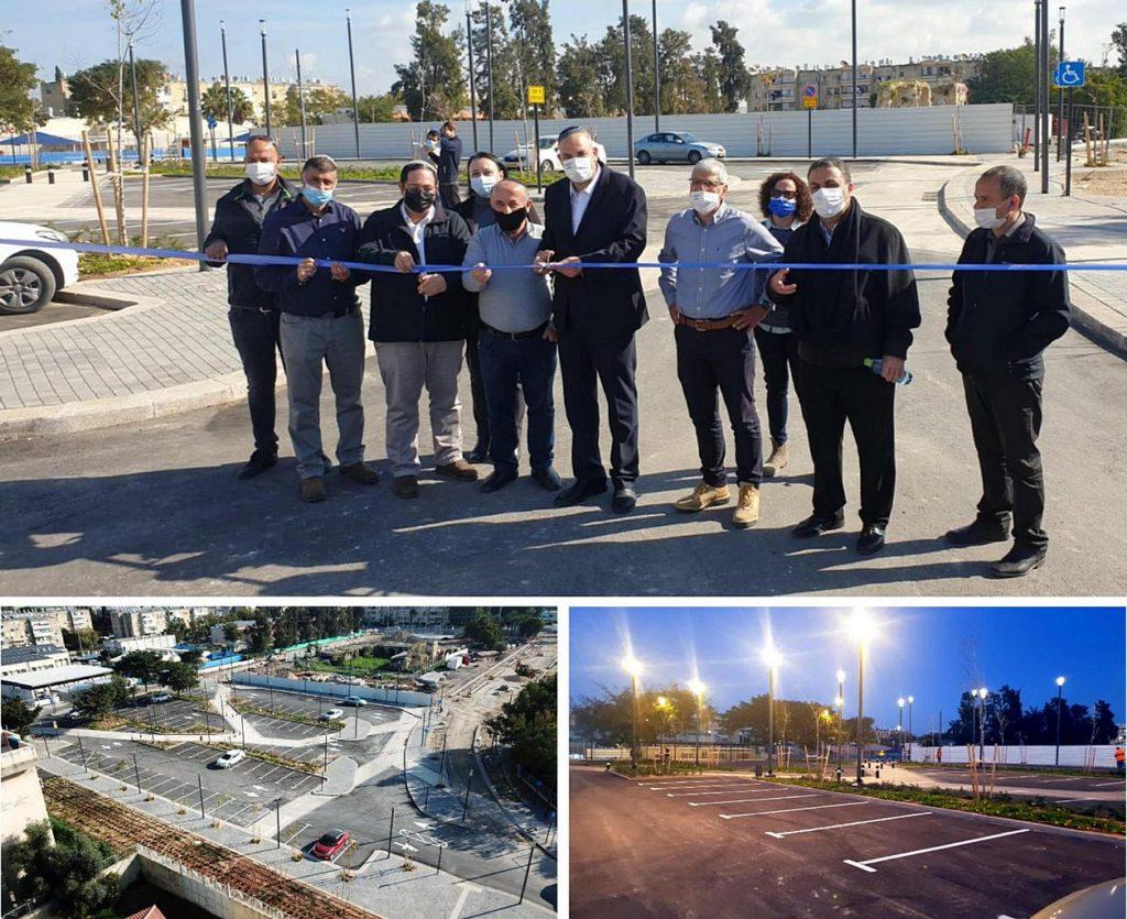 נדבך נוסף בשיקום ופיתוח העיר העתיקה ראש העיר והנהלות העירייה וכלכלית בטקס חנוכת החניון החדש 1 (1)